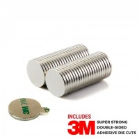 D20x2 N42 Neodymium magnet with 3M tape